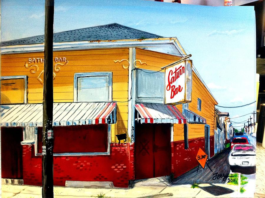 Saturn Bar Painting - Saturn Bar by Terry J Marks Sr