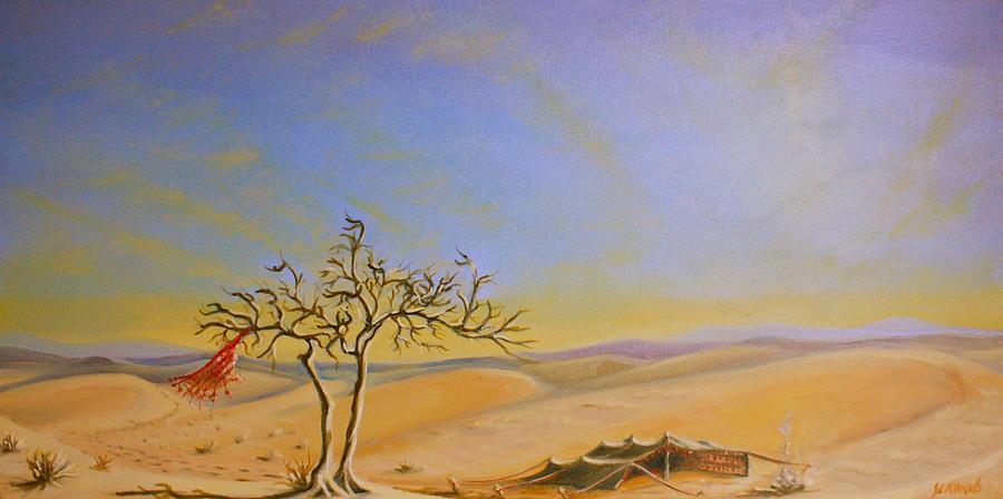 Saudi Desert Bedouin Tent Painting By Yvonne Ayoub