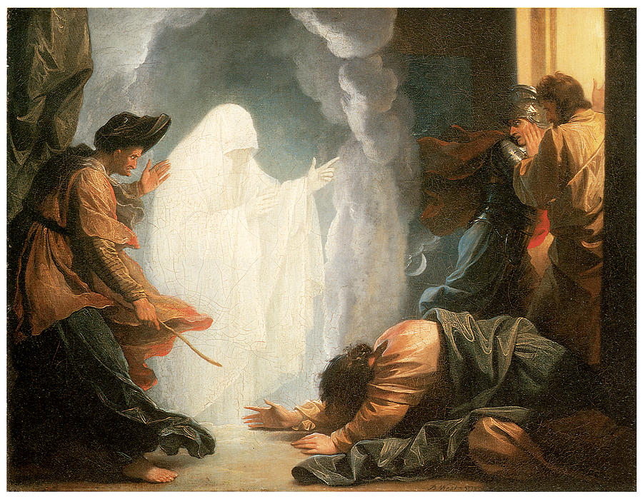 Benjamin West Painting - Saul And The Witch Of Endor by Benjamin West