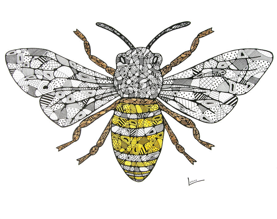 Save The Bees Drawing By Leanne Karlstrom