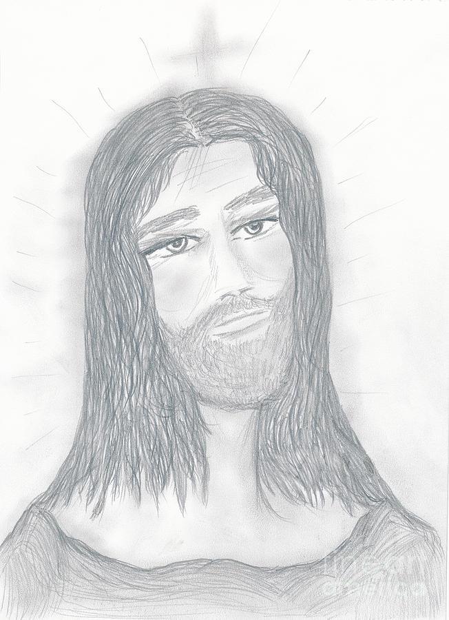 Jesus Drawing - Savior by Sonya Chalmers