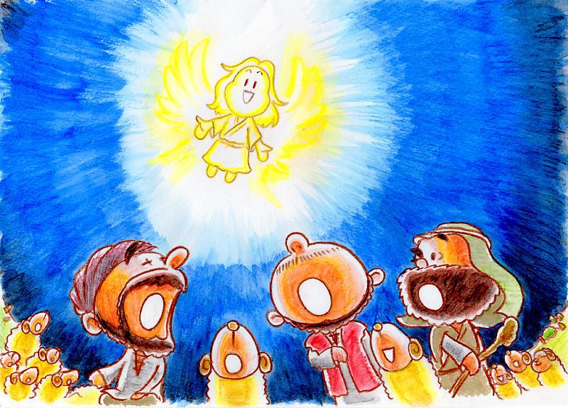 Bible Drawing - Saviour Has Come To Birth by Masahiro Tajima