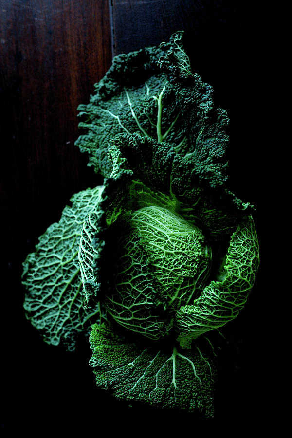Vertical Photograph - Savoy Cabbage by Ingwervanille