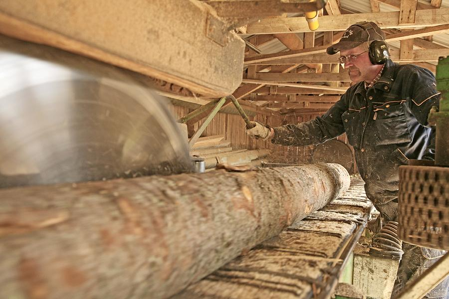 Human Photograph - Sawmill by Bjorn Svensson