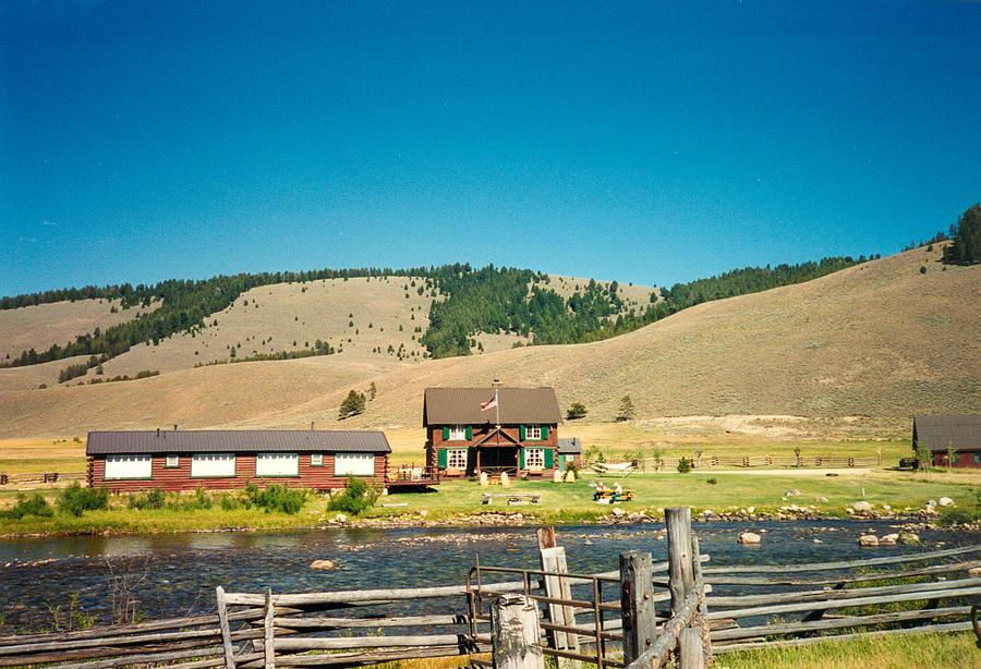 Sawtooth Photograph - Sawtooth Mountains Campsite by Douglas Barnett