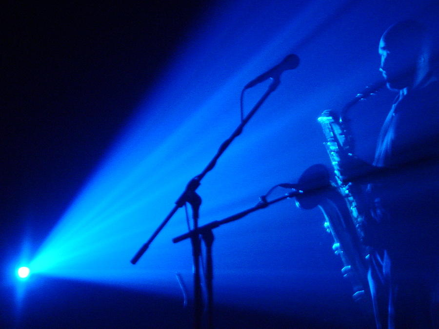 Saxophone Photograph - Sax In Blue by Anthony Citro