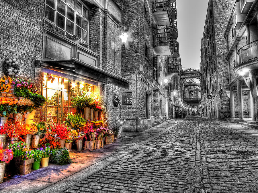 London Photograph - Say It With Flowers - Hdr by Colin J Williams Photography