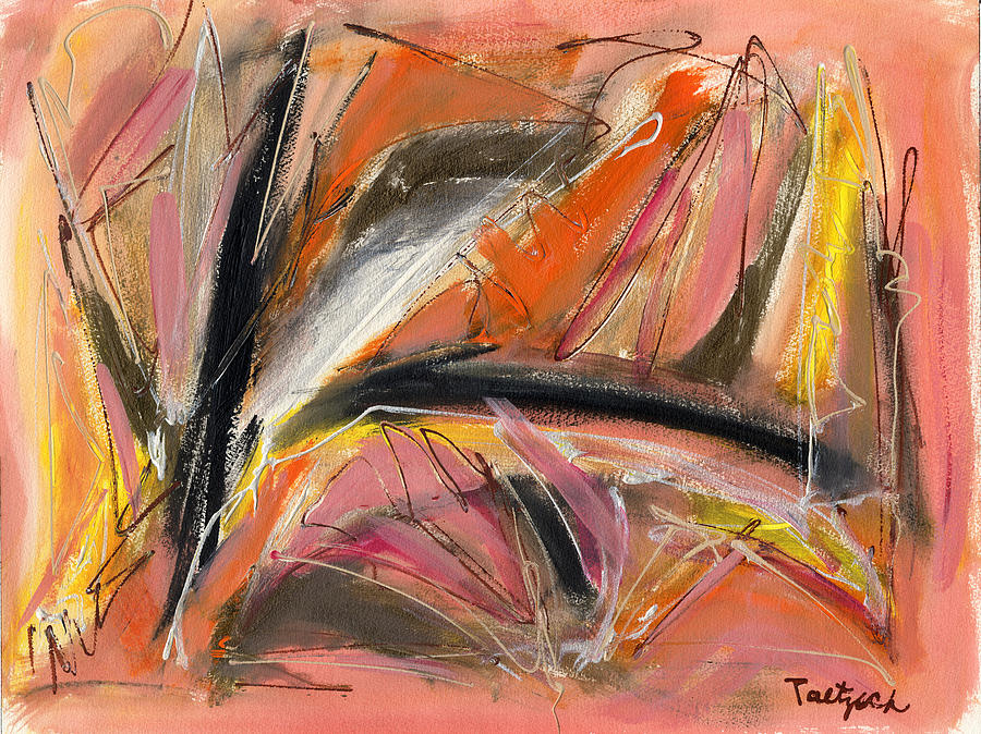 Abstract Painting - Say Yes by Lynne Taetzsch