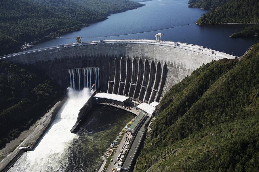 Dam Photograph - Sayano-shushenskaya Hydroelectric Dam by Ria Novosti