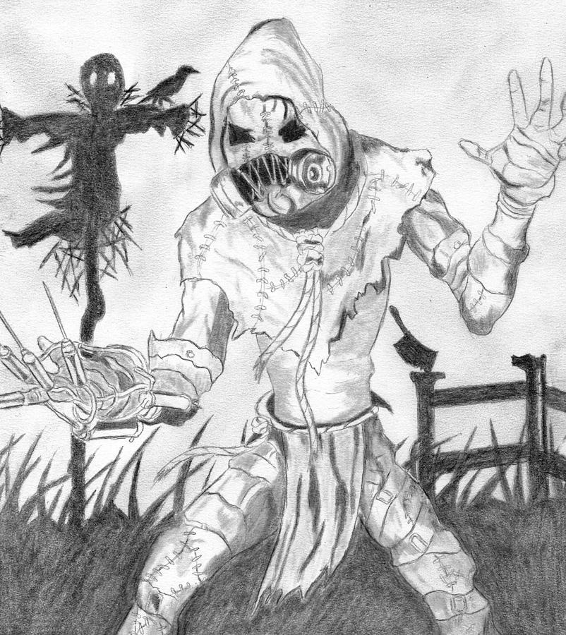 scarecrow drawing scarecrow by josh bennett