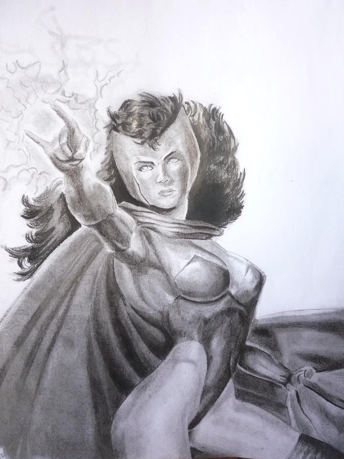 Marvel Drawing - Scarlet Witch by Luis Carlos A