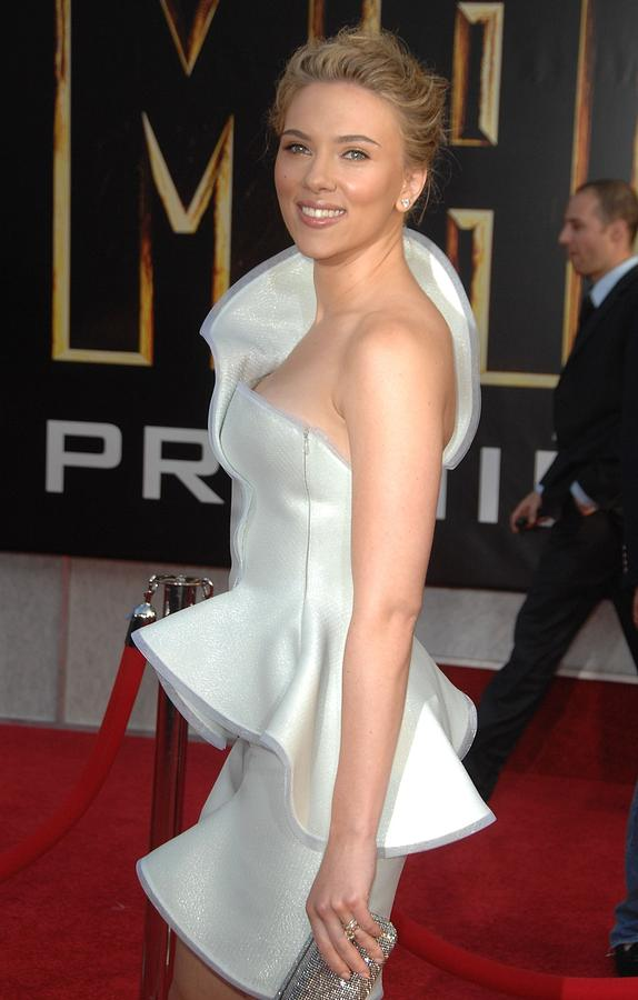 Scarlett Johansson Photograph - Scarlett Johansson Wearing An Armani by Everett