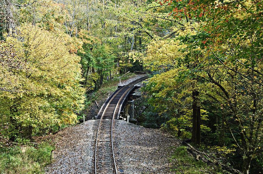 Railroad Photograph - Scenic Railway Tracks by Susan Leggett