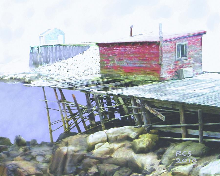 Maine Digital Art - Schoodic Pier by Richard Stevens
