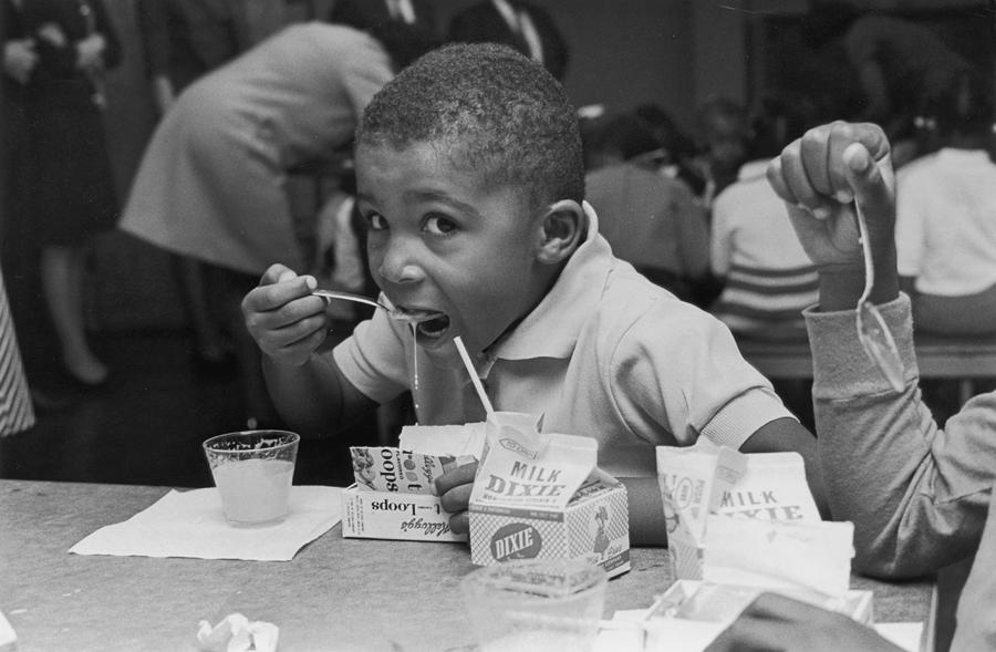 Child Photograph - School Breakfast by Archive Photos