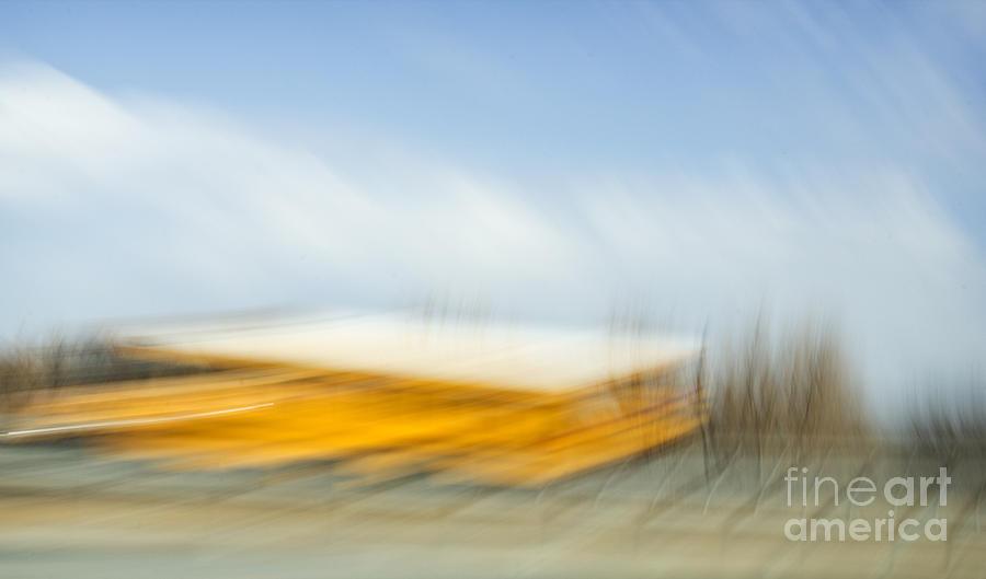 School Photograph - School Bus by Elena Nosyreva