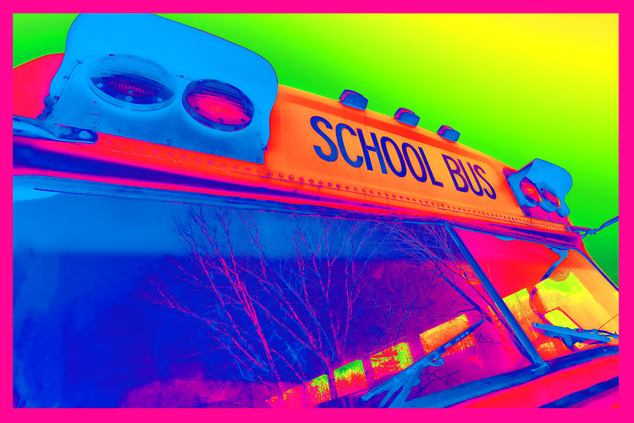 Colorful Photograph - School Bus by Gordon Dean II