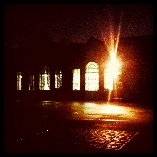Instagram Photograph - #school By #night #stickygrams #street by Just Berns