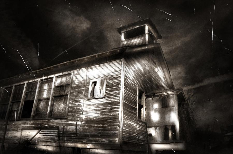 Karri Klawiter Photograph - School House Rot by Karri Klawiter