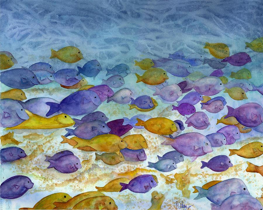 Fish Painting - School Traffic by Paul Cummings