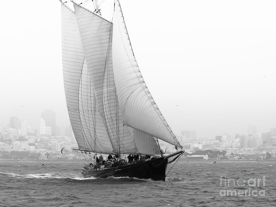 Schooner Photograph - Schooner By The Bay by Patty Descalzi