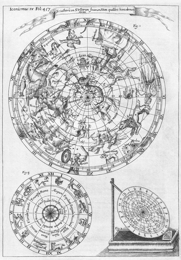 1600s Photograph - Sciathericon For Determining Time by Middle Temple Library