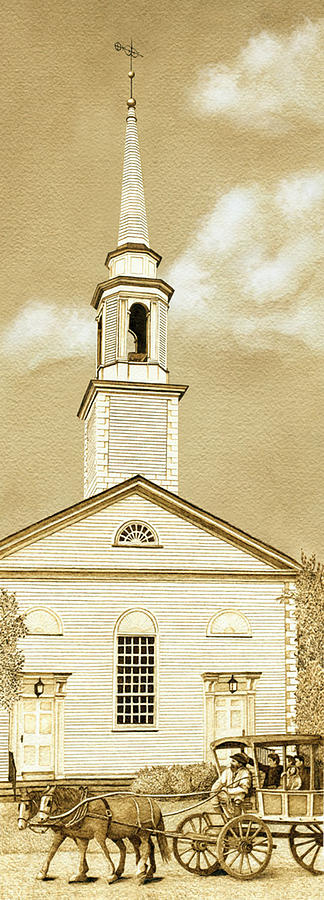 Church Painting - Scituate Congregational Church by Cate McCauley