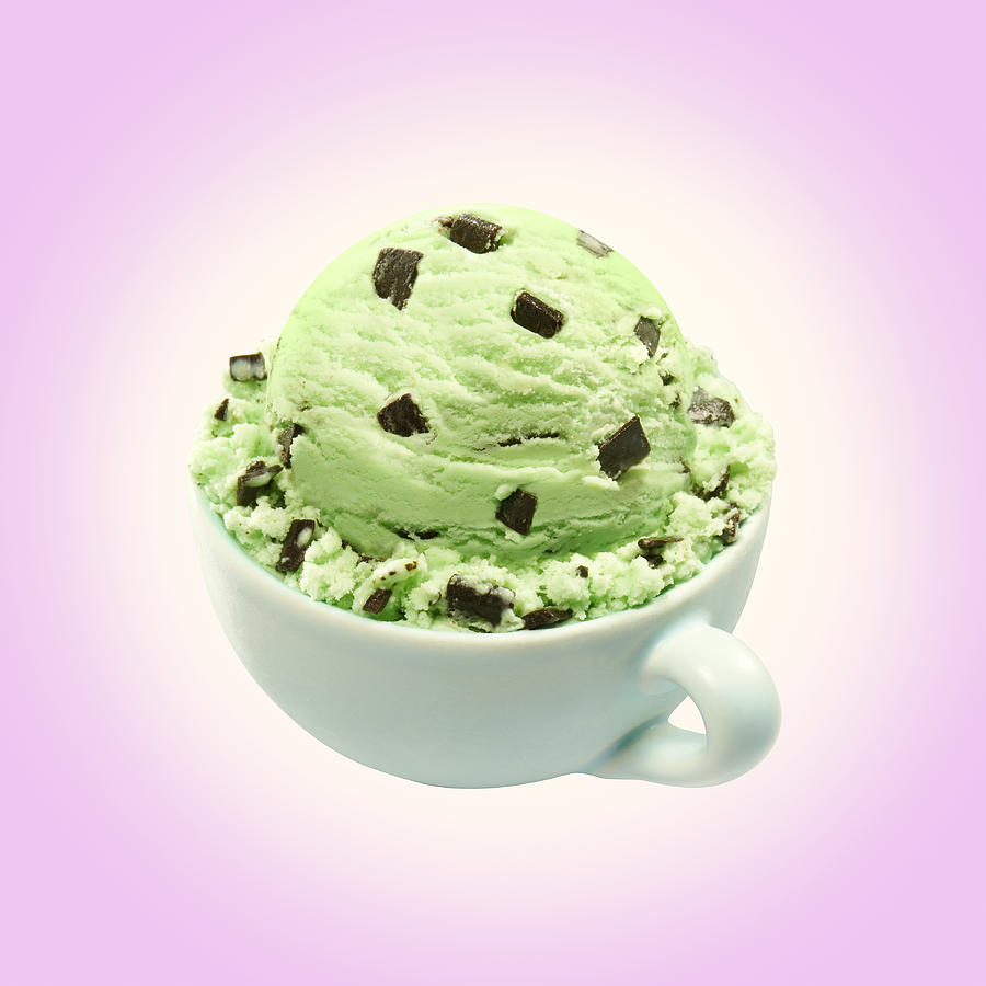 Scoop Of Mint Chocolate Chip Ice Cream Photograph by Annabelle Breakey