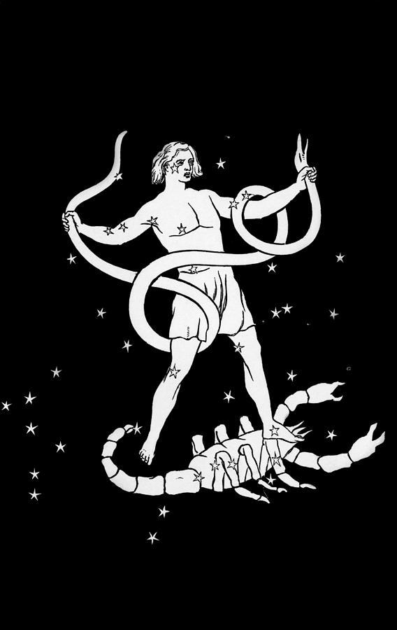 Scorpio Photograph - Scorpio And Ophiuchus Constellations by