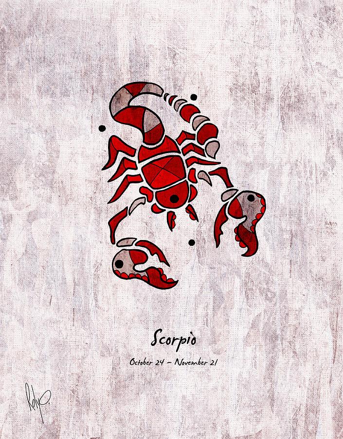 Scorpio Drawing - Scorpio Artwork by Roly Orihuela