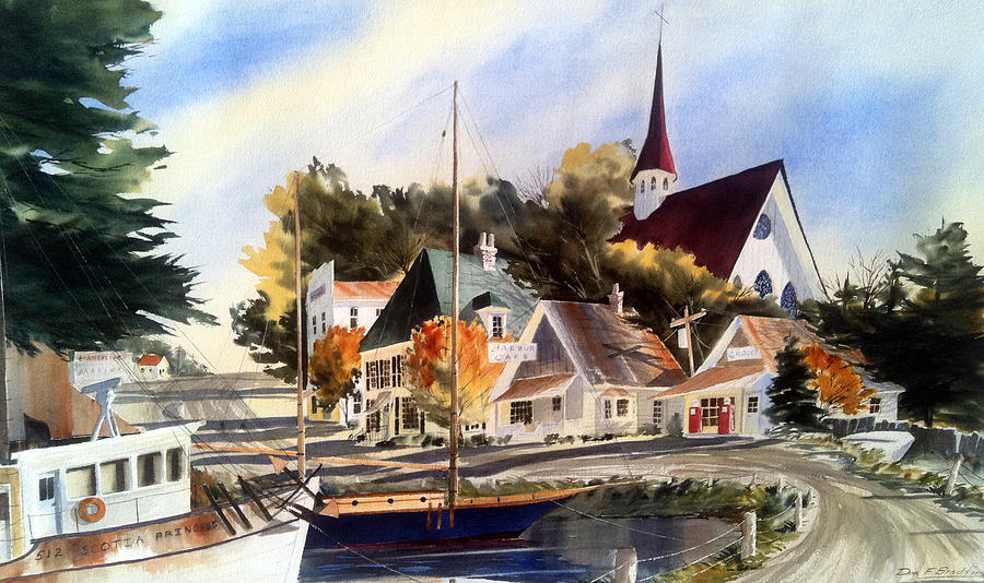Norther Painting - Scotia Princess ---annapolis N.s. by Don F  Bradford