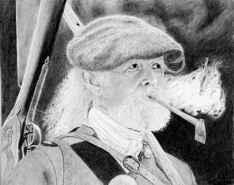 Graphite Drawing - Scotsman by Kenny Chaffin