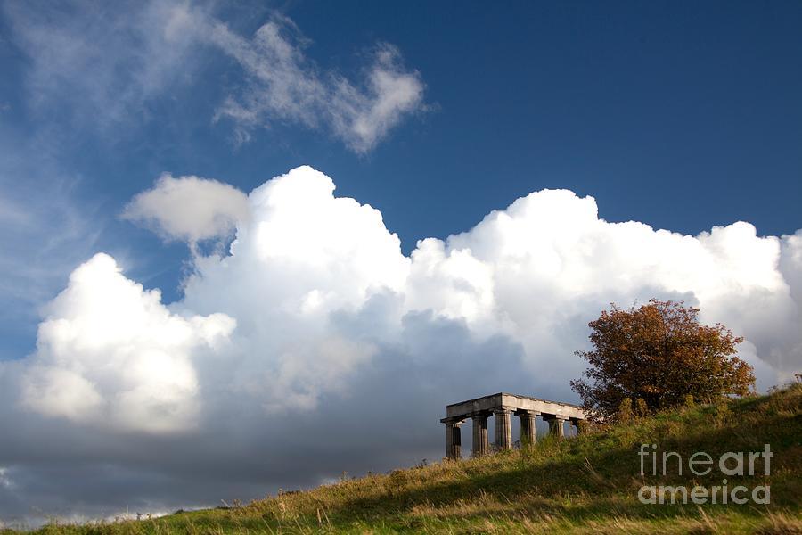 Edinburgh Photograph - Scottish National Monument On Calton Hill by Steven Gray
