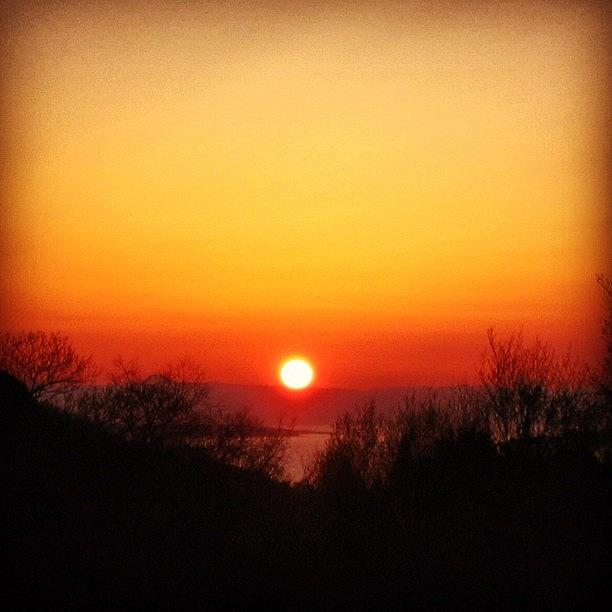 Nature Photograph - Scottish Sunset by Luisa Azzolini