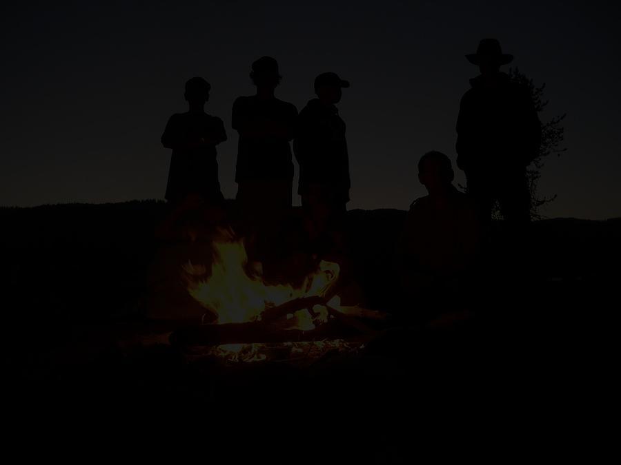 Scout Camp Fire Photograph by LaDonna Vinson