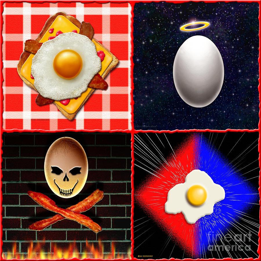 Cristopher Ernest Digital Art - Scrambled Eggs by Cristophers Dream Artistry
