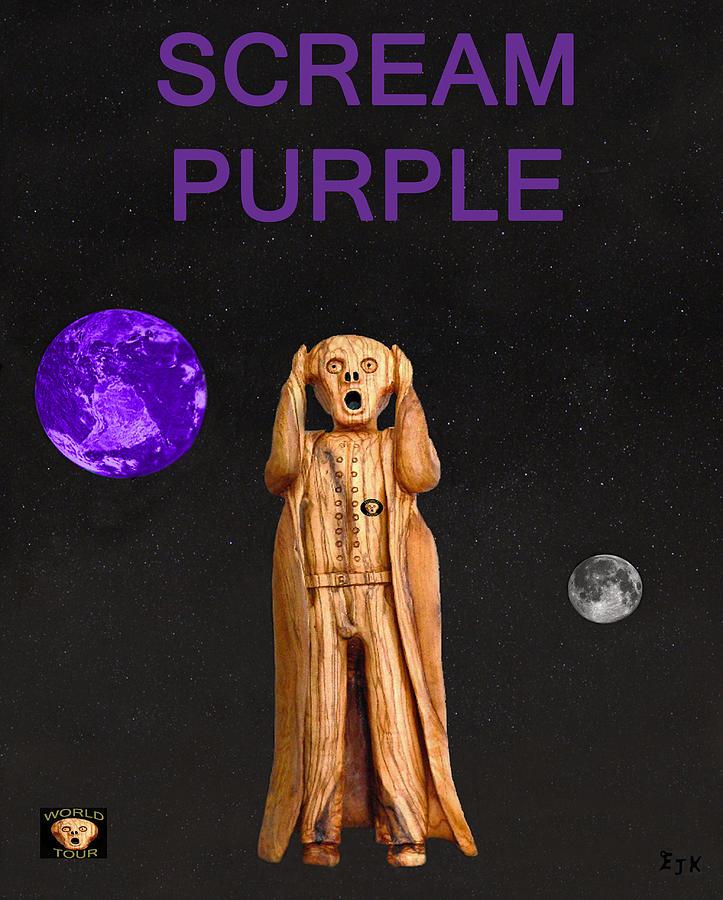 Queen Scream Mixed Media - Scream Purple by Eric Kempson