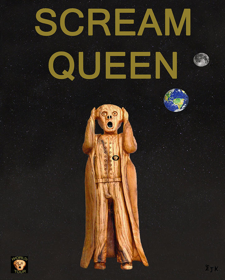 Queen Scream Mixed Media - Scream Queen by Eric Kempson