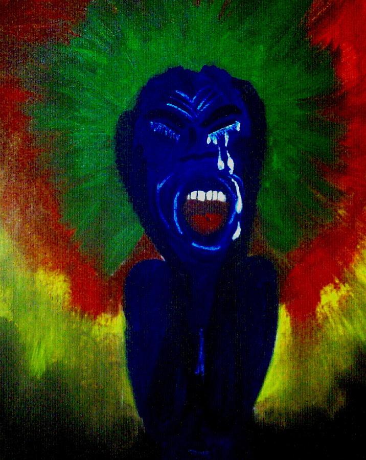 People Painting - Scream by Violette L Meier