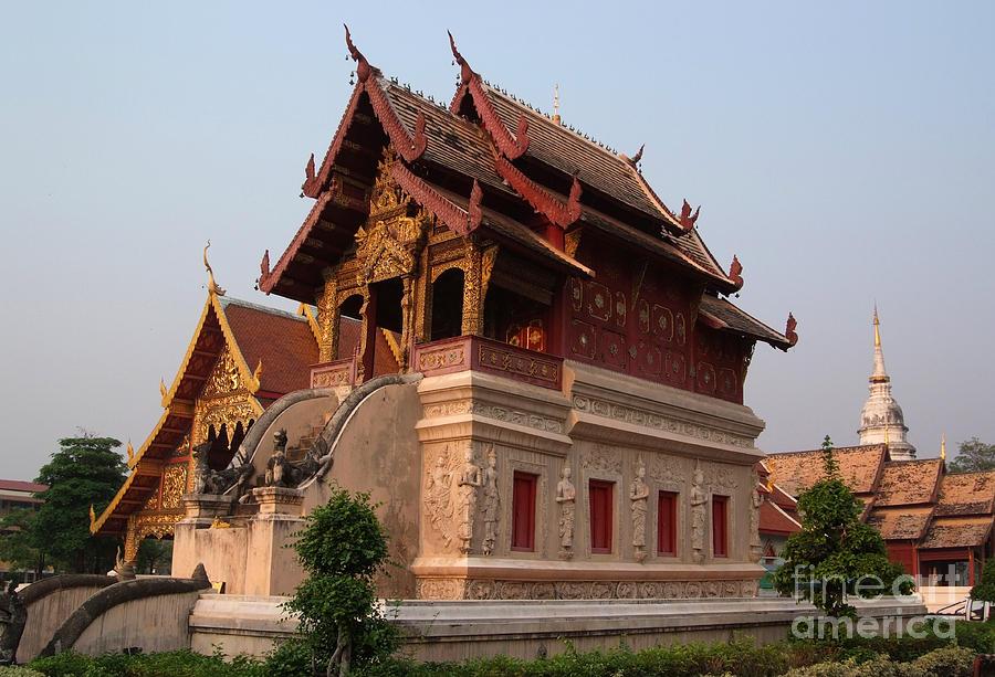 Ancient Photograph - Scripture Repository Wat Phra Singh Chiang Mai by Opas Chotiphantawanon