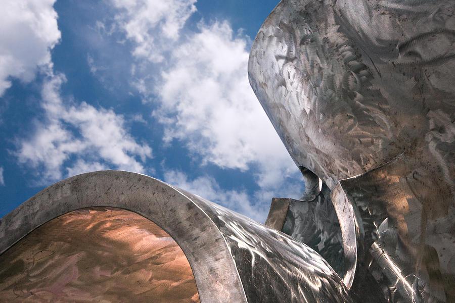 Sculpture And Sky Photograph