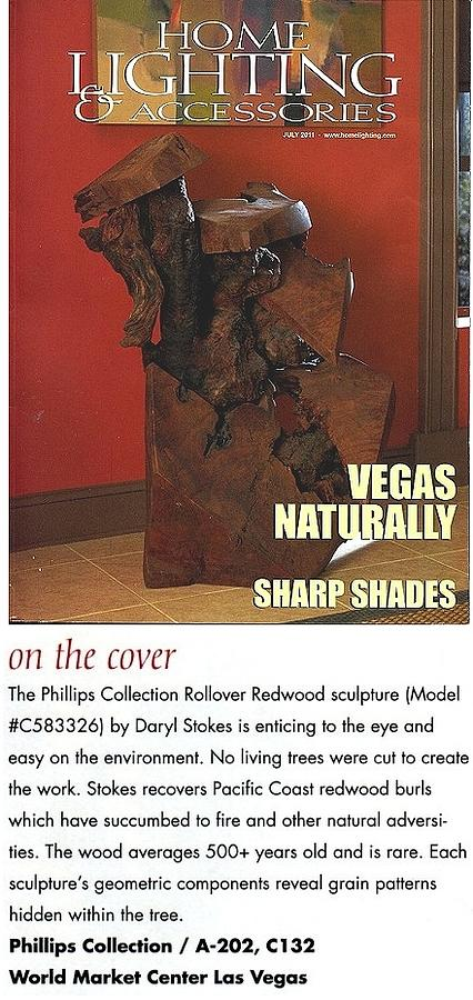 Driftwood Sculptures Sculpture - Sculpture Featured On Cover Of National Magazine by Daryl Stokes
