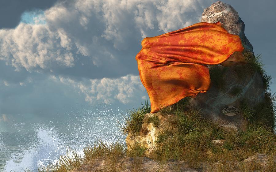 Beach Digital Art - Sea Breeze Butterfly by Daniel Eskridge