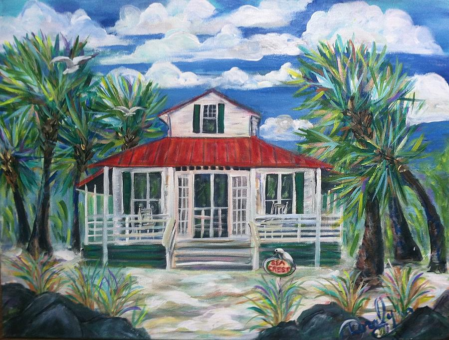 St. Simons Island Painting - Sea Crest by Doralynn Lowe