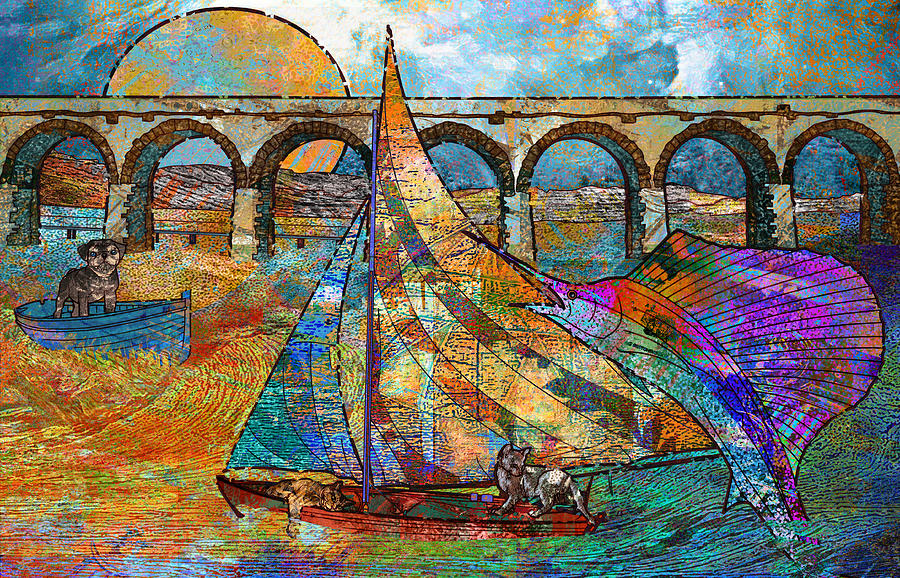 Arch Painting - Sea Dream by Mary Ogle
