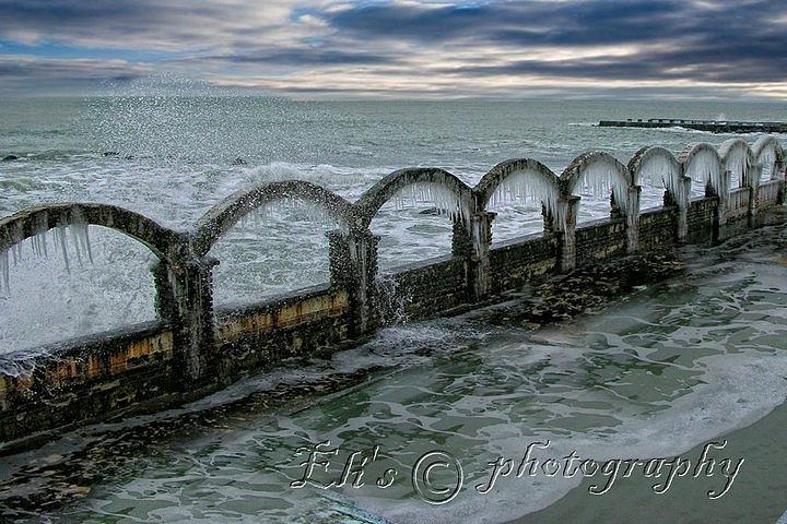 Light Pyrography - Sea In Winter by Eli Marinova