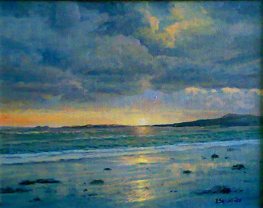 Sea Landscape 2011 40x50cm Oil On Canvas Painting by Edvard Sasun