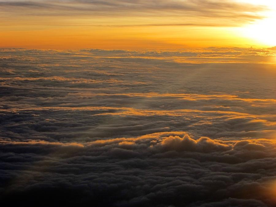 Sea Of Clouds Photograph - Sea Of Clouds by Jyotsna Chandra