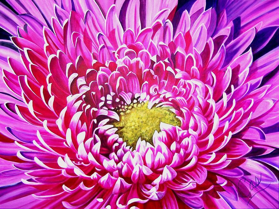 Flower Painting - Sea Of Petals by Karen Casciani