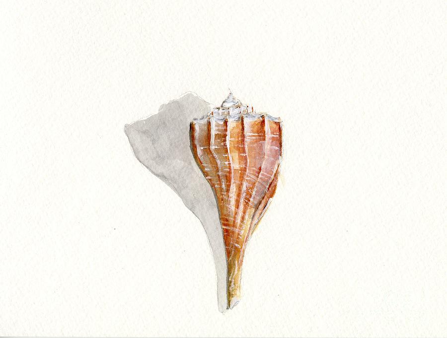 Sea Shell Painting - Sea Shell Watercolor by Sheryl Heatherly Hawkins